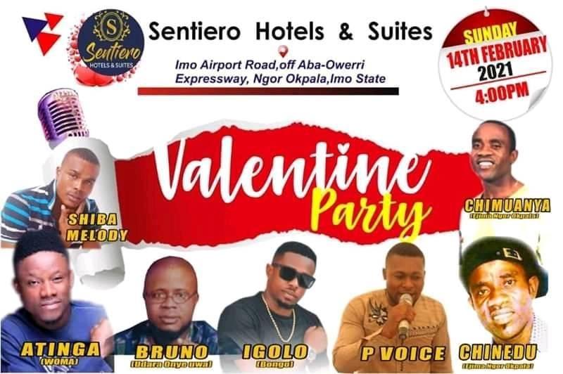 THE SENTIERO HOTEL'S VALENTINE PARTY